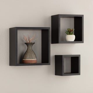 Gallery Solutions Black Decorative Wall Cubes
