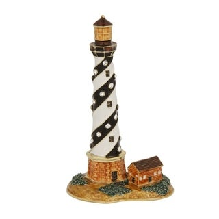 Black and White Lighthouse Trinket Box