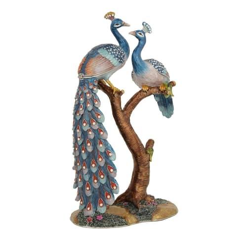Large Peacock Trinket Box by Versil