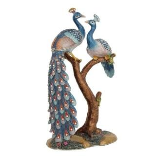 Large Peacock Trinket Box