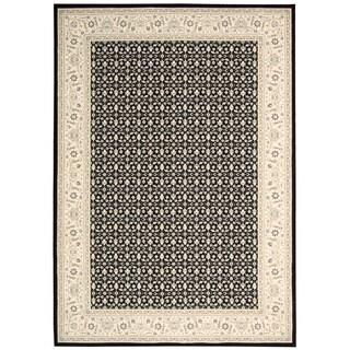 Nourison Persian Empire Black Area Rug (2' x 2'9)