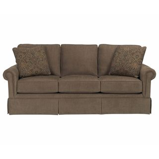 Broyhill Audrey Brown Upholstered Sofa