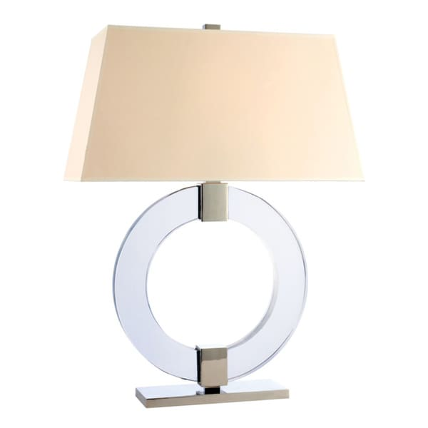 Hudson Valley Roslyn 1-light 29-inch Polished Nickel Table Lamp, Cream