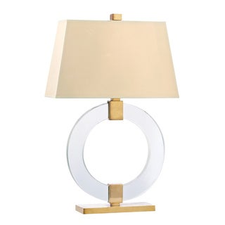 Hudson Valley Roslyn 1-light 29-inch Aged Brass Table Lamp, White