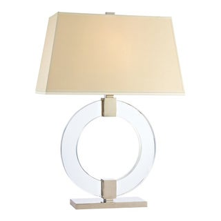 Hudson Valley Roslyn 1-light 24-inch Polished Nickel Table Lamp, White