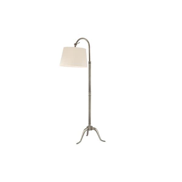 Hudson Valley Burton 1-light 60-inch Aged Silver Floor Lamp, White
