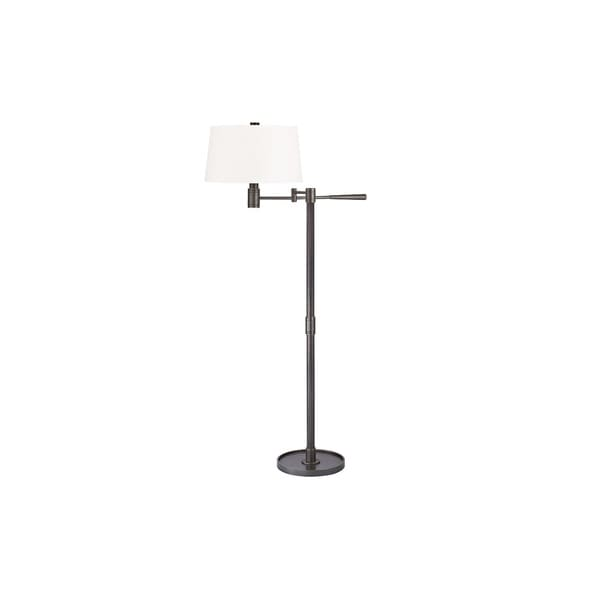 Hudson Valley Lindale 1-light Old Bronze Floor Lamp, White