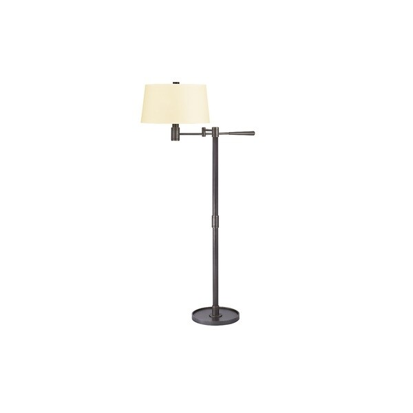 Hudson Valley Lindale 1-light Old Bronze Floor Lamp, Cream