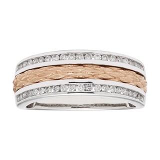 Sofia 14k Two-tone Gold 1/3ct TDW Diamond Wedding Band (H-I, I1-I2)