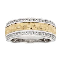 Sofia 14k Two-tone Gold 1/3ct TDW Diamond Wedding Band