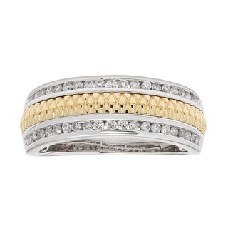 Sofia 14k Two-tone Gold 1/3ct TDW Diamond Wedding Band (H-I, I1-I2)