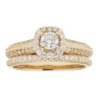 Sofia 14k Yellow Gold 1ct TDW IGL Certified Diamond Bridal Set (H-I, I1-I2)