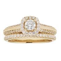 Sofia 14k Yellow Gold 1ct TDW IGL Certified Diamond Bridal Set