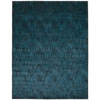 Nourison Nightfall Peacock Area Rug - 5'6 x 8'