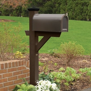 "Highwood marine-grade synthetic wood ""Hazleton"" Mailbox post (Eco Friendly)"