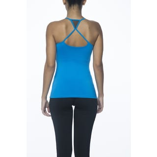 Be Up Women's Polyester/Spandex Run-back Mesh Tank