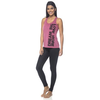 Be Up Women's Dream Big Pink Polyester Tank