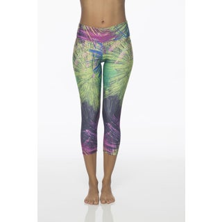 Be Up Women's Multicolored Polyester and Spandex Capri Leggings