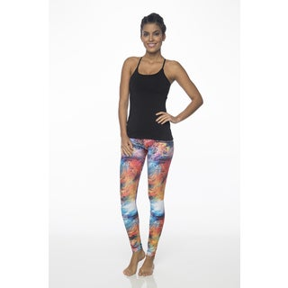 Supreme Tropical Print Polyester and Spandex Legging