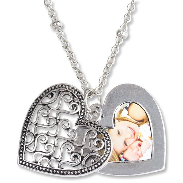 Mint Jules Ornate Heart Picture Slide Locket Necklace