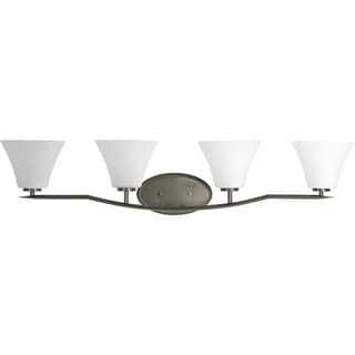 Progress Lighting Bravo Brown Gold Brass 4-light Vanity Fixture