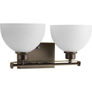 Progress Lighting Legend Brown Bronze 2-light Bathroom Fixture