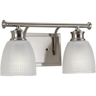 Progress Lighting Lucky Grey Nickel 2-light Bathroom Fixture
