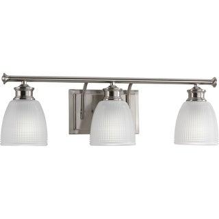 Progress Lighting P2117-09 Lucky Grey Nickel 3-light Bath Light