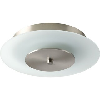 Progress Lighting P2310-0930K9 Beyond Nickel Steel Layered Glass LED Ceiling/Wall Mount Fixture with AC LED Module