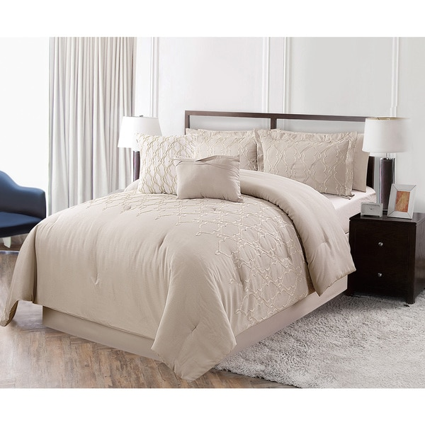 Courtney Metallic Embroidered 6-piece Comforter Set