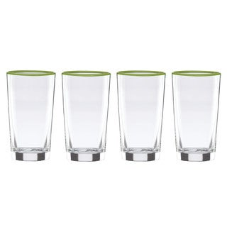 Dansk The Burbs Grass Highball Glasses (Set of 4)