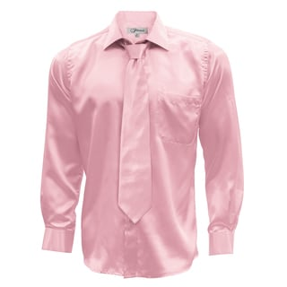 Link to Men's Satin Dress Shirt XS to Big and Tall Necktie and Hanky Set Similar Items in Shirts