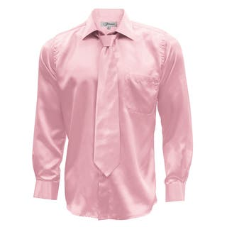 Men's Satin Dress Shirt XS to Big and Tall Necktie and Hanky Set|https://ak1.ostkcdn.com/images/products/12171540/P19023268.jpg?impolicy=medium