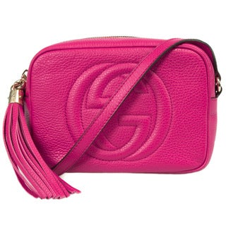 Gucci Soho Fuchsia Small Leather Disco Bag