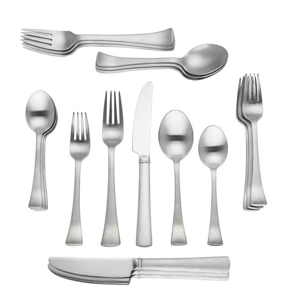 Dansk Cafe Blanc Stainless Steel 20 Piece Flatware Set Service For 4