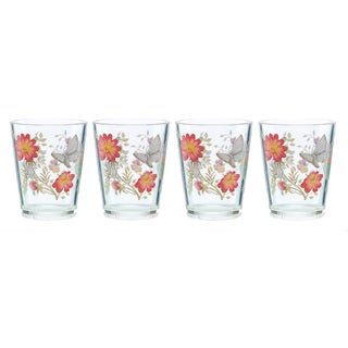 Lenox Butterfly Meadow Acrylic Double Old-fashion Glasses (Set of 4)