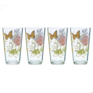 Lenox Butterfly Meadow Acrylic Highball Glasses (Pack of 4)