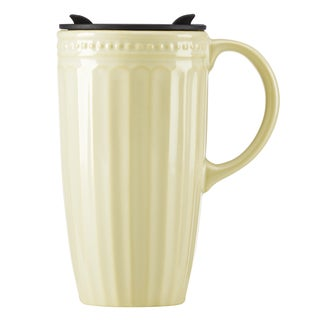 Lenox French Perle Groove Pistachio Travel Mug with Handle