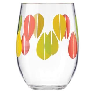 Dansk Burbs Clear Acrylic Stemless Wine Glass