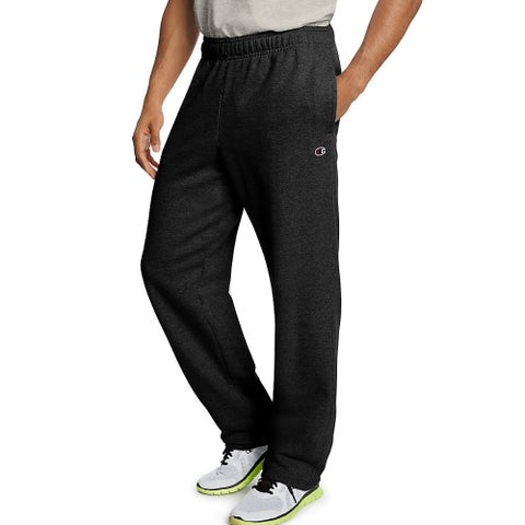 Champion Men's Powerblend Fleece Open Bottom Pants
