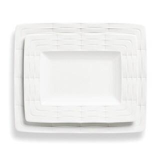 Lenox Entertain 365 Sculpture White Bone China 2-piece Platter Set