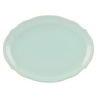 Lenox French Perle Ice Blue Stoneware 16-inch Bead Platter