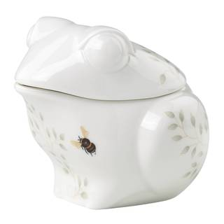 Lenox Butterfly Meadow White/Porcelain Figural Frog Sugar Bowl