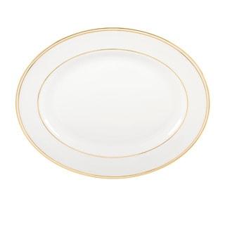 Lenox Federal Gold/White Bone China 13-inch Platter