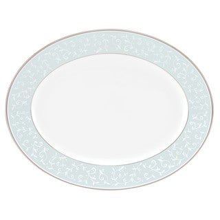 Lenox Opal Innocence White Bone China 13-inch Oval Platter