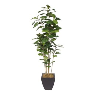 6-foot Fiddle Leave Faux Tree in Metal Container