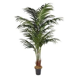 7-foot Artificial Kentia Palm Tree in Plastic Pot
