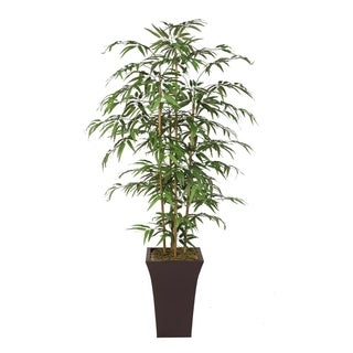 78-inch Bamboo Tree With Real Bamboo Poles in Metal Container