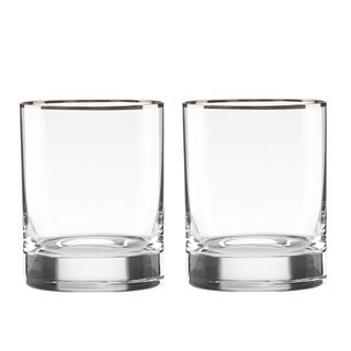 Lenox Timeless Platinum Double Old Fashion Glass