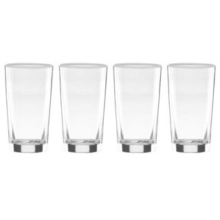 Dansk Burbs Lily White Highball Glasses (Pack of 4)